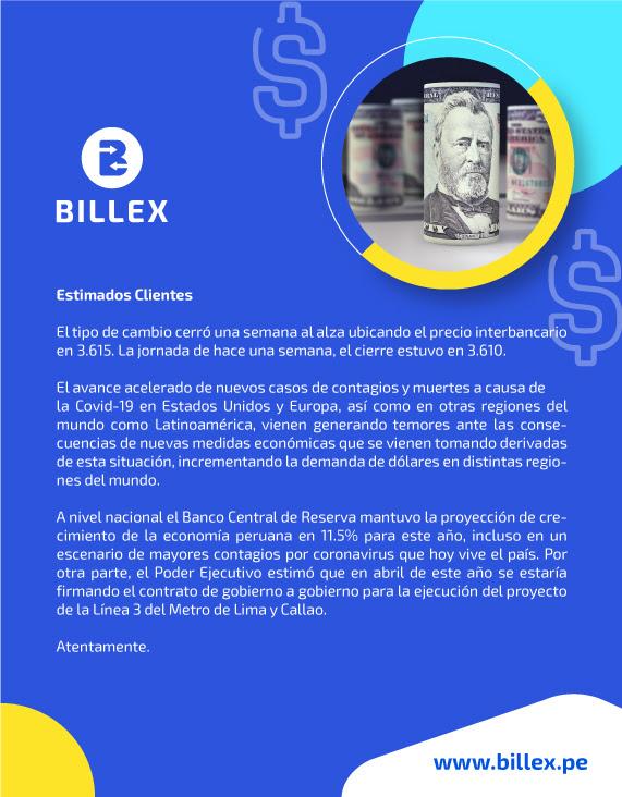 Boletín Informativo Económico al 15.01.2021
